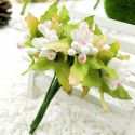 Mini Bouquet Flower Stamen - Big Glass Head, white, 10 pieces, Long 9cm, [ST1119]